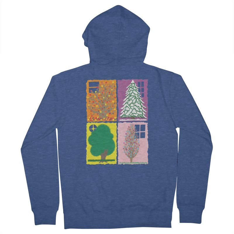 The Paper House: Seasons Women's French Terry Zip-Up Hoody by jeffisawesome's Artist Shop