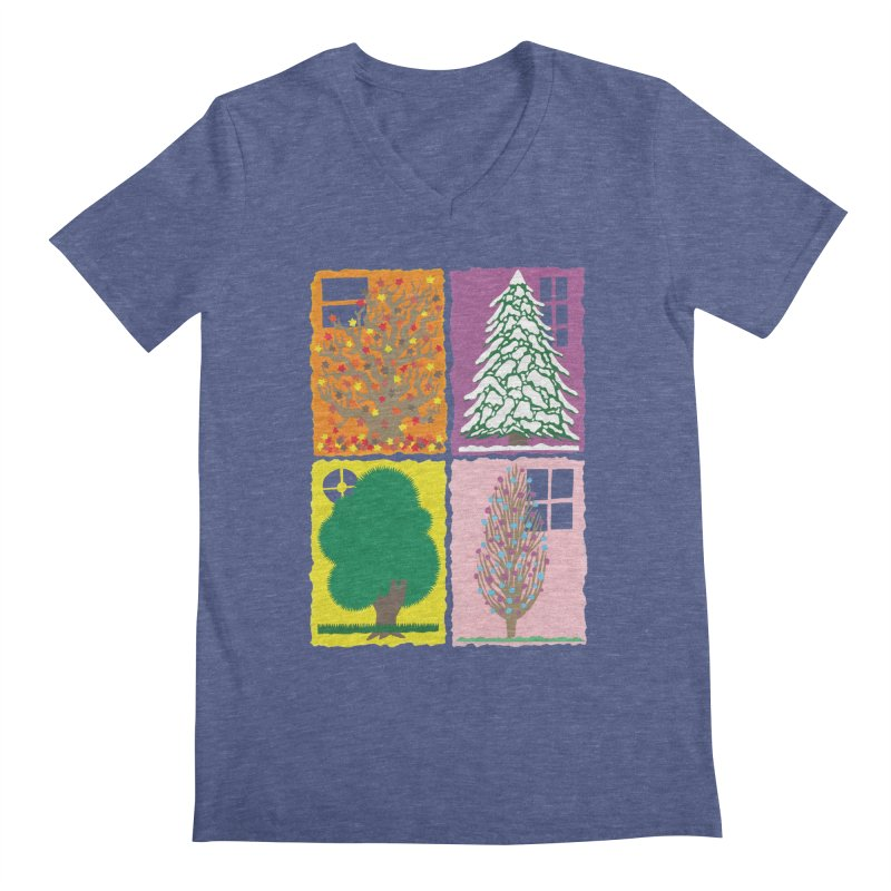 The Paper House: Seasons Men's Regular V-Neck by jeffisawesome's Artist Shop