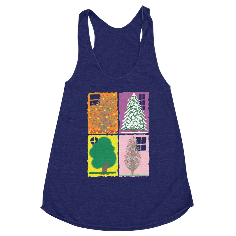 The Paper House: Seasons Women's Racerback Triblend Tank by jeffisawesome's Artist Shop
