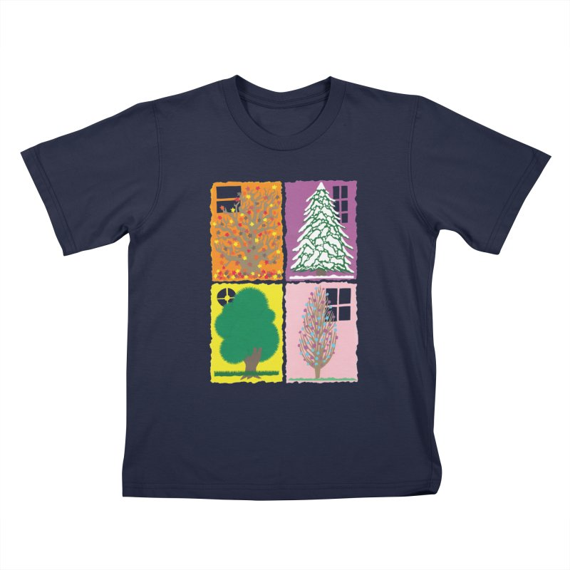 The Paper House: Seasons Kids T-Shirt by jeffisawesome's Artist Shop