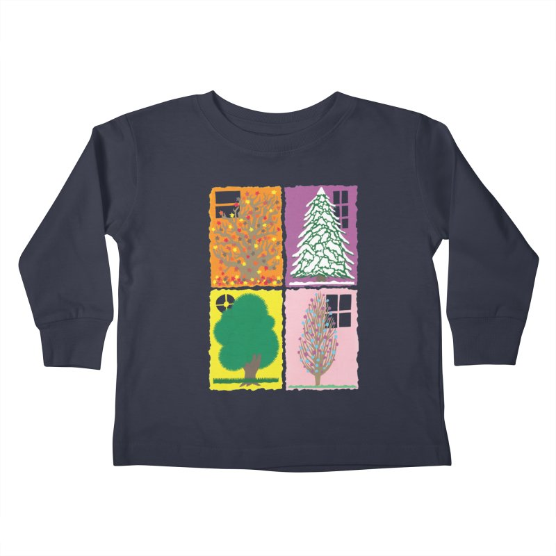 The Paper House: Seasons Kids Toddler Longsleeve T-Shirt by jeffisawesome's Artist Shop