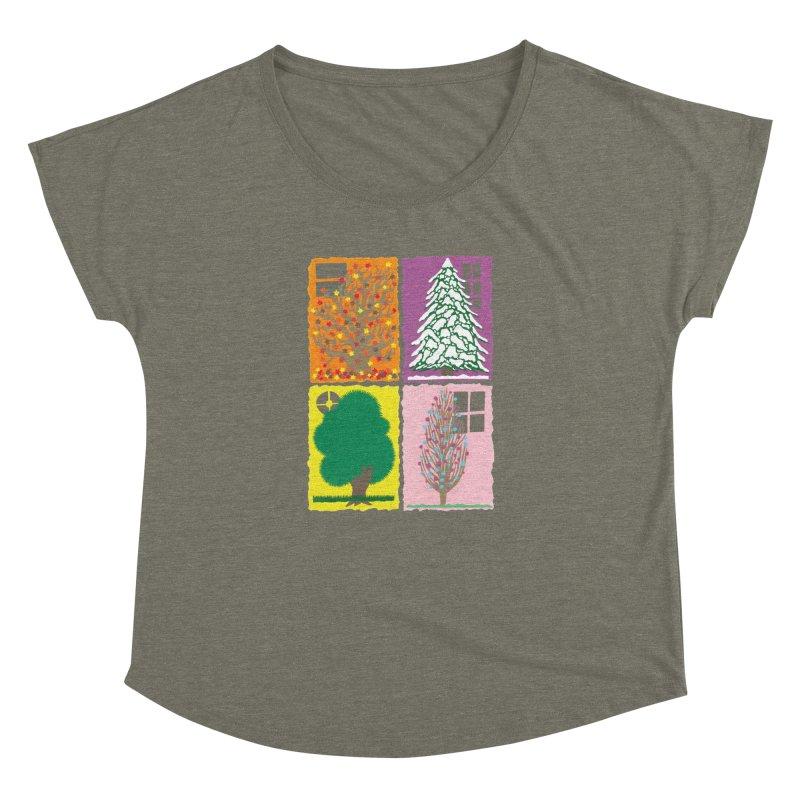 The Paper House: Seasons Women's Dolman Scoop Neck by jeffisawesome's Artist Shop