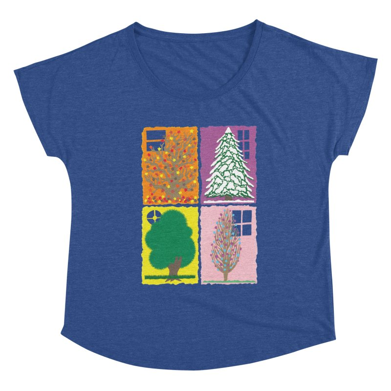 The Paper House: Seasons Women's Scoop Neck by jeffisawesome's Artist Shop