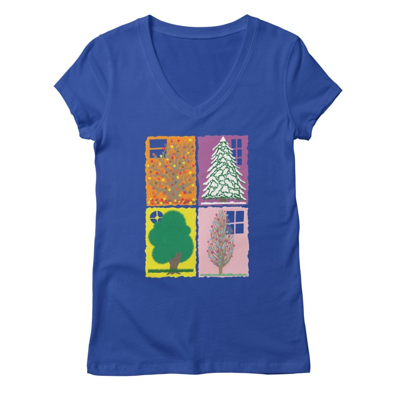 The Paper House: Seasons Women's Regular V-Neck by jeffisawesome's Artist Shop