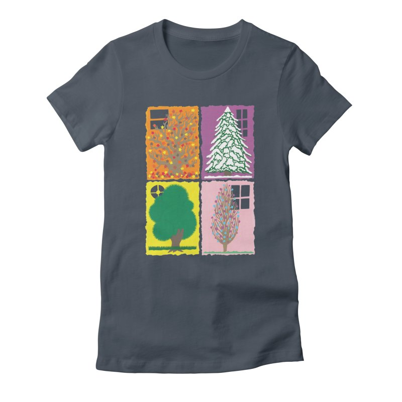 The Paper House: Seasons Women's Fitted T-Shirt by jeffisawesome's Artist Shop