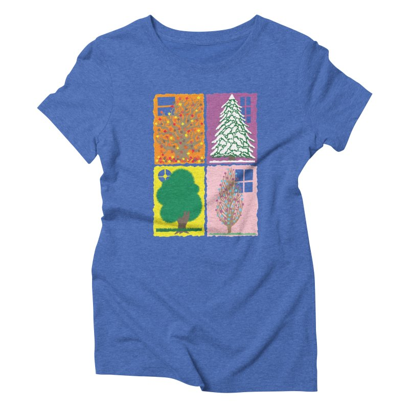 The Paper House: Seasons Women's Triblend T-Shirt by jeffisawesome's Artist Shop