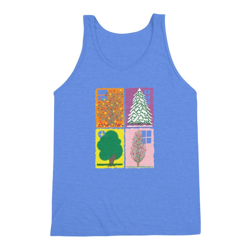 The Paper House: Seasons Men's Triblend Tank by jeffisawesome's Artist Shop