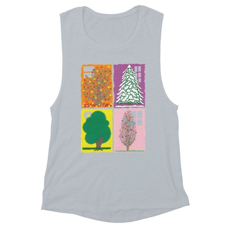 The Paper House: Seasons Women's Muscle Tank by jeffisawesome's Artist Shop