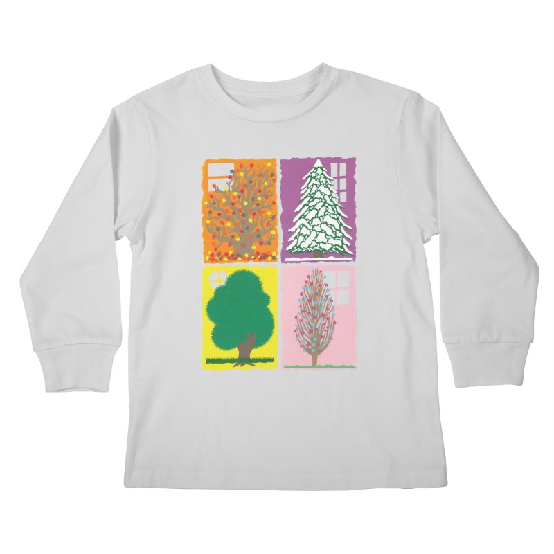 The Paper House: Seasons Kids Longsleeve T-Shirt by jeffisawesome's Artist Shop
