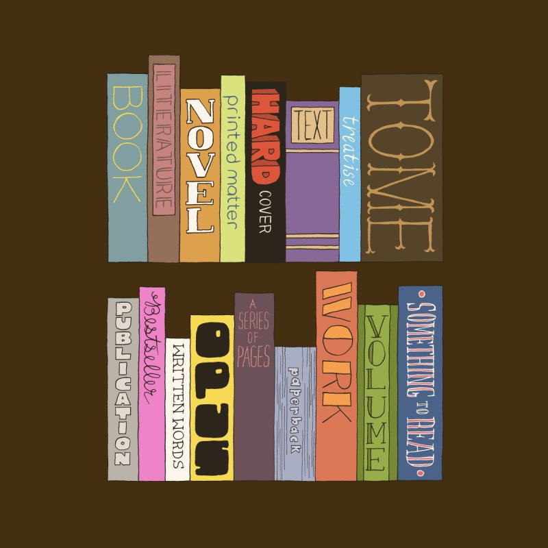 Meta-Bookshelf Home Fine Art Print by jeffisawesome's Artist Shop
