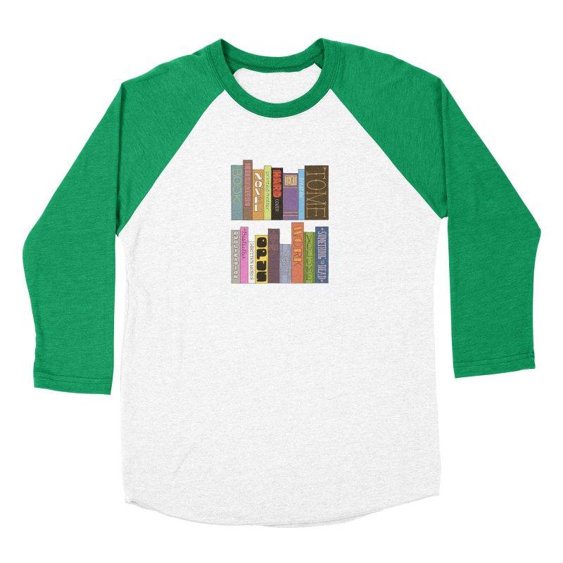 Meta-Bookshelf Men's Baseball Triblend Longsleeve T-Shirt by jeffisawesome's Artist Shop