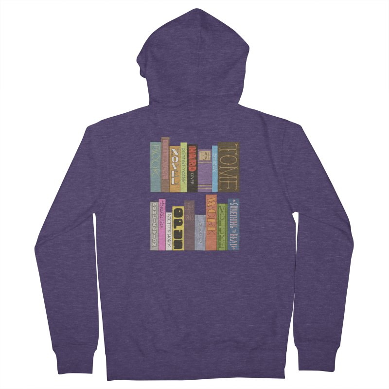 Meta-Bookshelf Men's French Terry Zip-Up Hoody by jeffisawesome's Artist Shop
