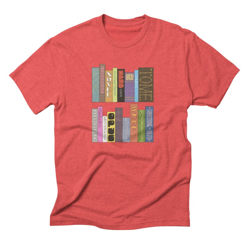 Meta-Bookshelf Men's Triblend T-Shirt by jeffisawesome's Artist Shop