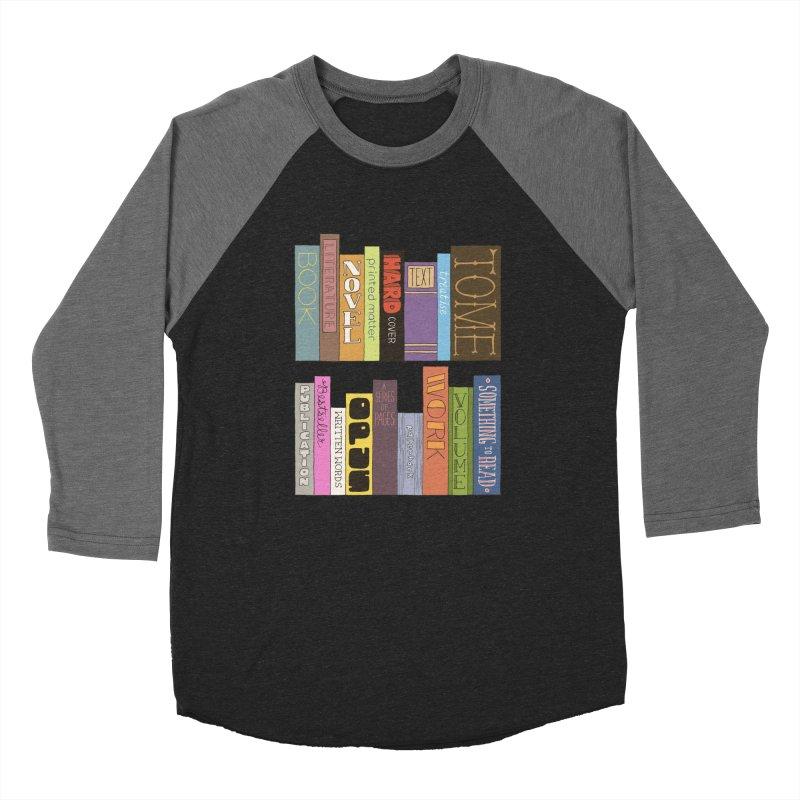Meta-Bookshelf Women's Baseball Triblend Longsleeve T-Shirt by jeffisawesome's Artist Shop
