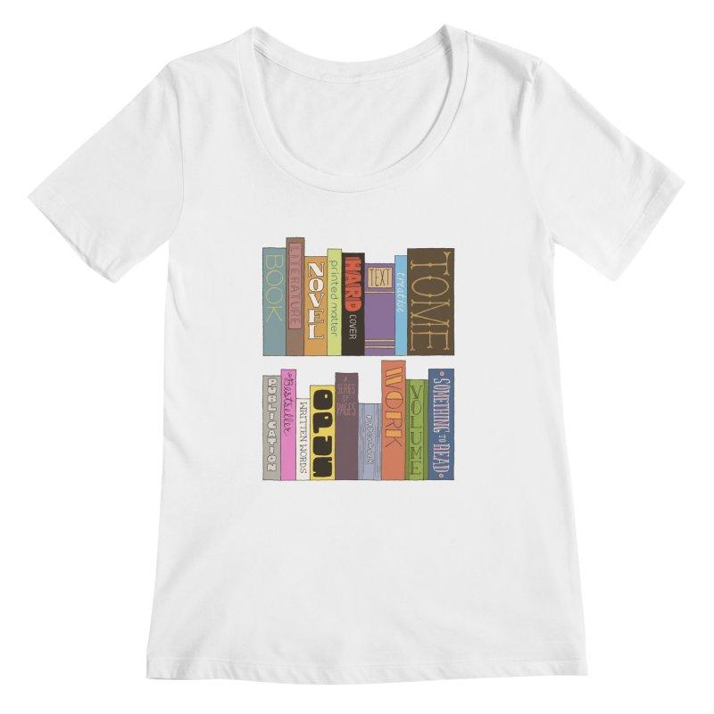Meta-Bookshelf Women's Regular Scoop Neck by jeffisawesome's Artist Shop