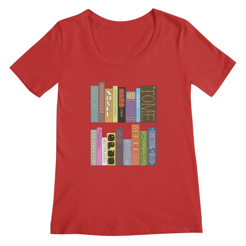 Meta-Bookshelf Women's Regular Scoop Neck by jeffisawesome's Artist Shop