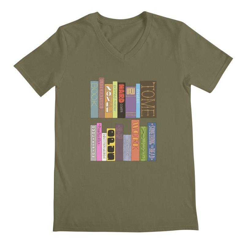 Meta-Bookshelf Men's Regular V-Neck by jeffisawesome's Artist Shop