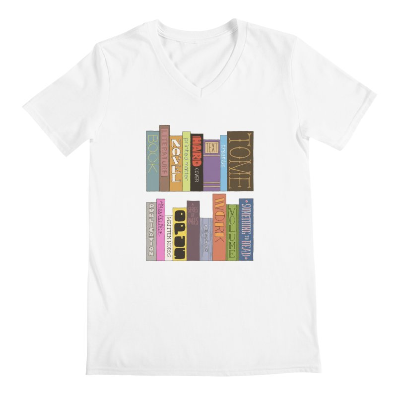 Meta-Bookshelf Men's Regular V-Neck by jeffisawesome's Artist Shop