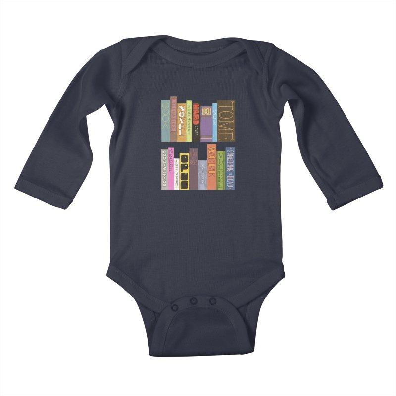 Meta-Bookshelf Kids Baby Longsleeve Bodysuit by jeffisawesome's Artist Shop