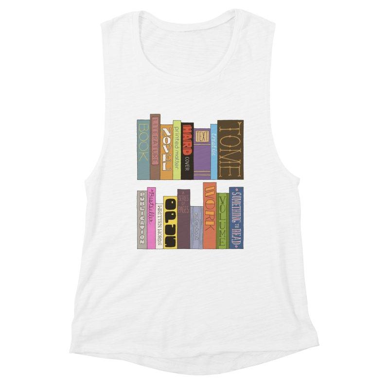 Meta-Bookshelf Women's Muscle Tank by jeffisawesome's Artist Shop