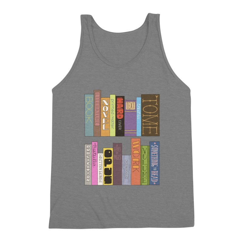 Meta-Bookshelf Men's Triblend Tank by jeffisawesome's Artist Shop