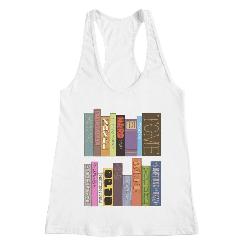 Meta-Bookshelf Women's Racerback Tank by jeffisawesome's Artist Shop