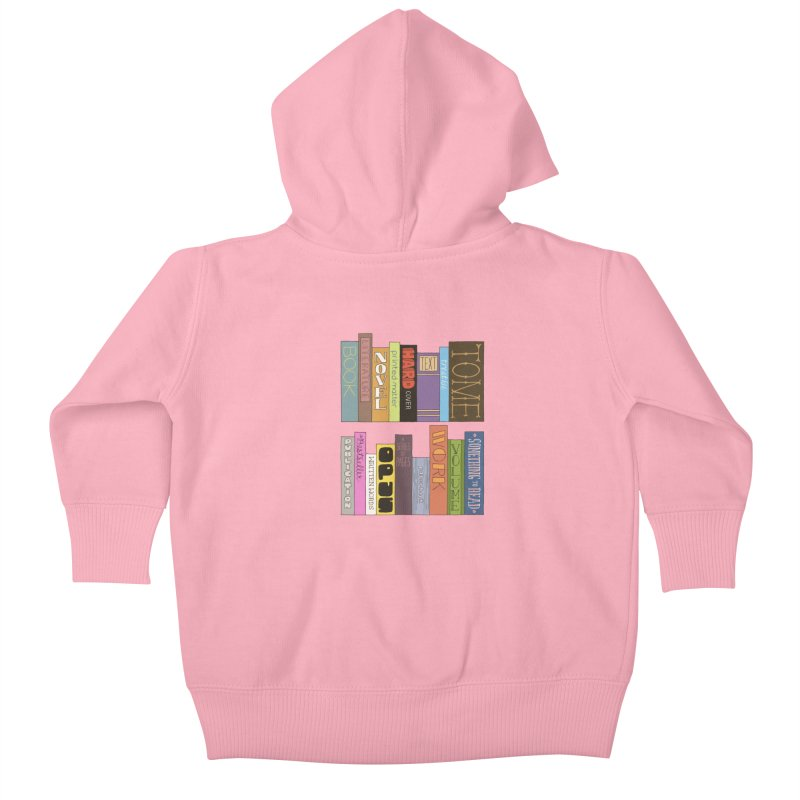 Meta-Bookshelf Kids Baby Zip-Up Hoody by jeffisawesome's Artist Shop