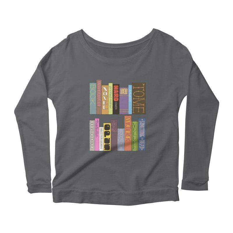 Meta-Bookshelf Women's Scoop Neck Longsleeve T-Shirt by jeffisawesome's Artist Shop