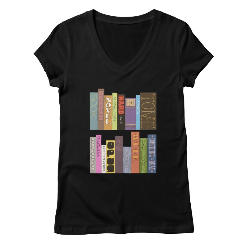 Meta-Bookshelf Women's Regular V-Neck by jeffisawesome's Artist Shop