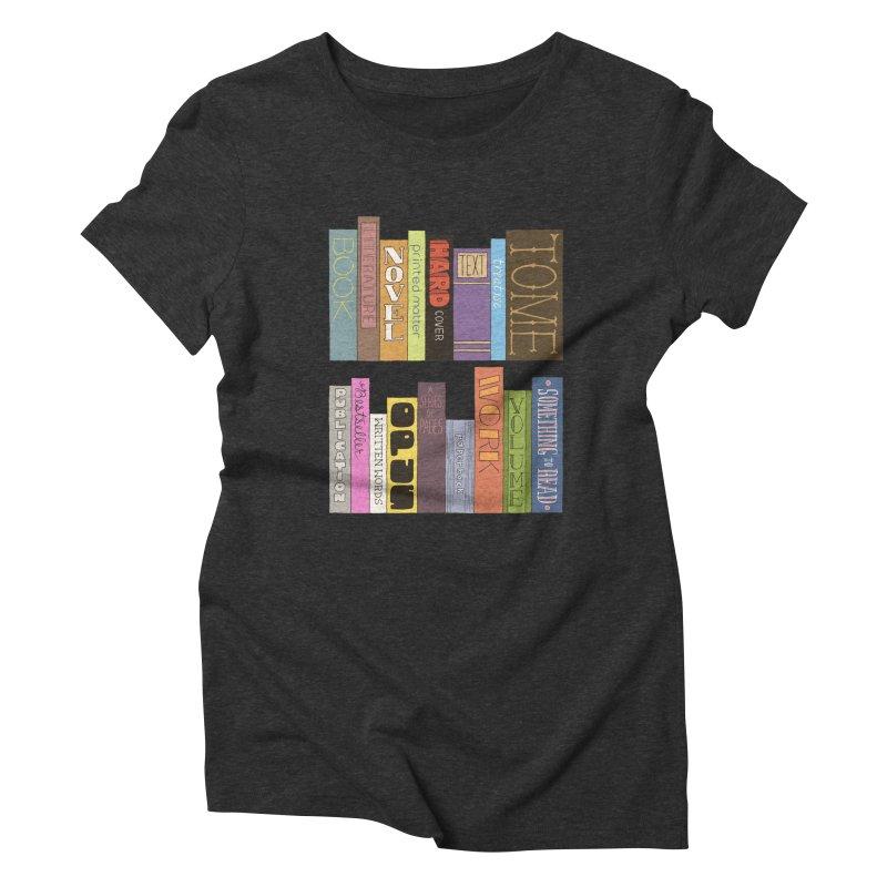 Meta-Bookshelf Women's Triblend T-Shirt by jeffisawesome's Artist Shop