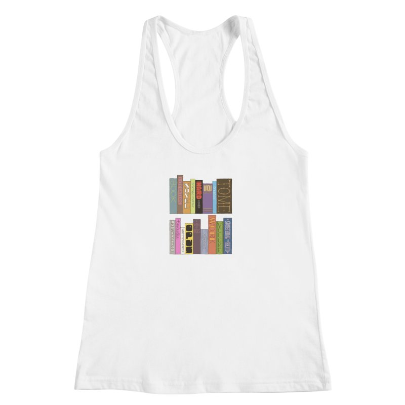 Meta-Bookshelf Women's Racerback Tank by jeffisawesome's Artist Shop