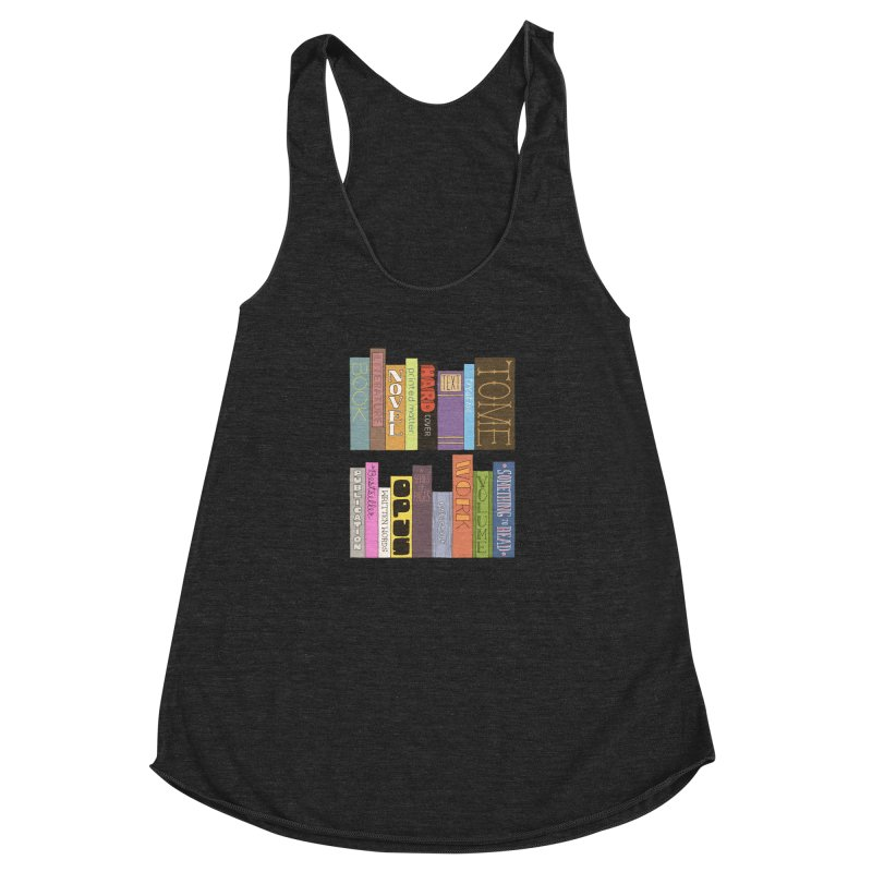 Meta-Bookshelf Women's Racerback Triblend Tank by jeffisawesome's Artist Shop