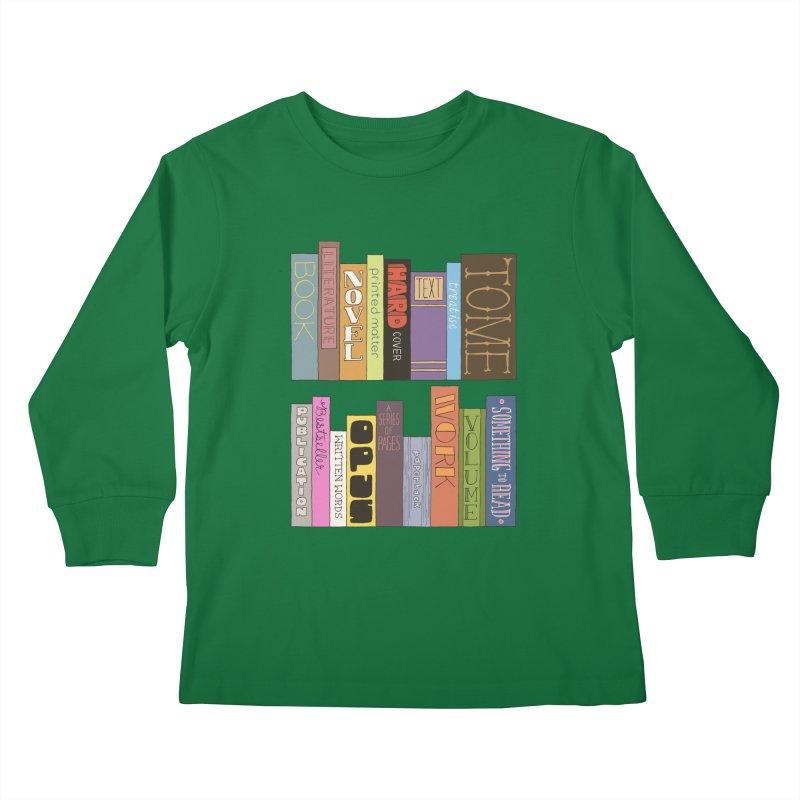 Meta-Bookshelf Kids Longsleeve T-Shirt by jeffisawesome's Artist Shop