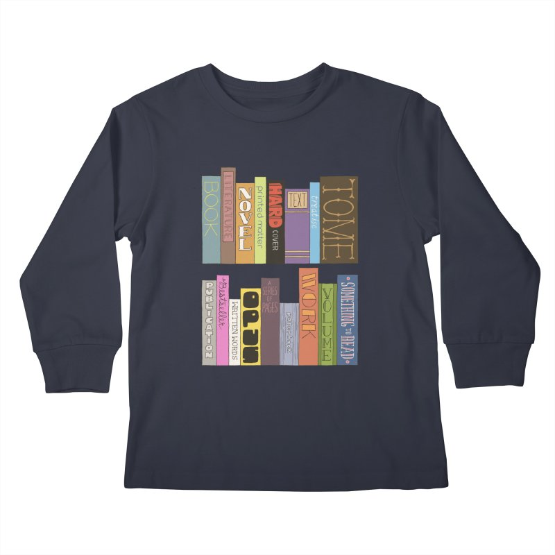 Meta-Bookshelf Kids Longsleeve T-Shirt by jeffisawesome's Artist Shop