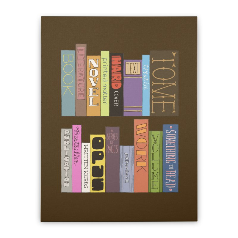Meta-Bookshelf Home Stretched Canvas by jeffisawesome's Artist Shop