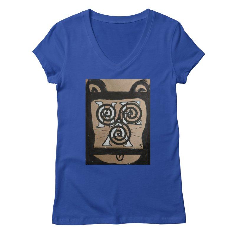 T-shirt for Chip Women's Regular V-Neck by jeffjacques's Artist Shop