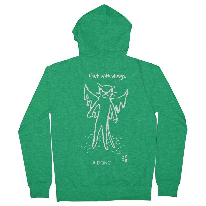 IDQNC-002 (white) Men's Zip-Up Hoody by jeffjacques's Artist Shop