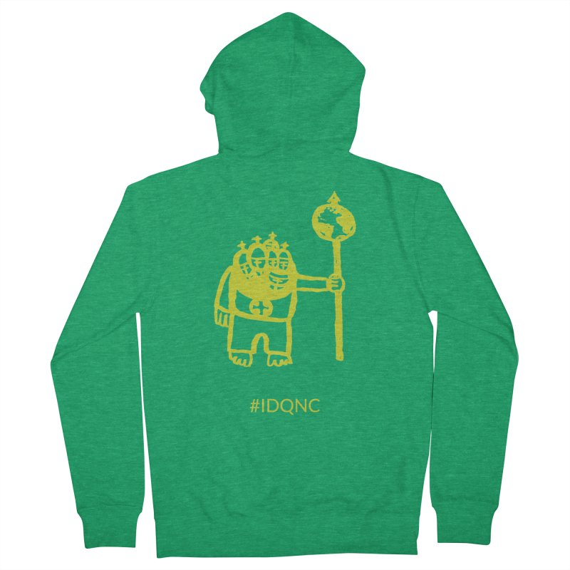 IDQNC-004 (lime) Men's Zip-Up Hoody by jeffjacques's Artist Shop