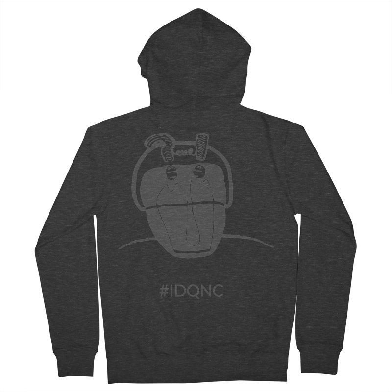 IDQNC-006 (gray) Men's Zip-Up Hoody by jeffjacques's Artist Shop