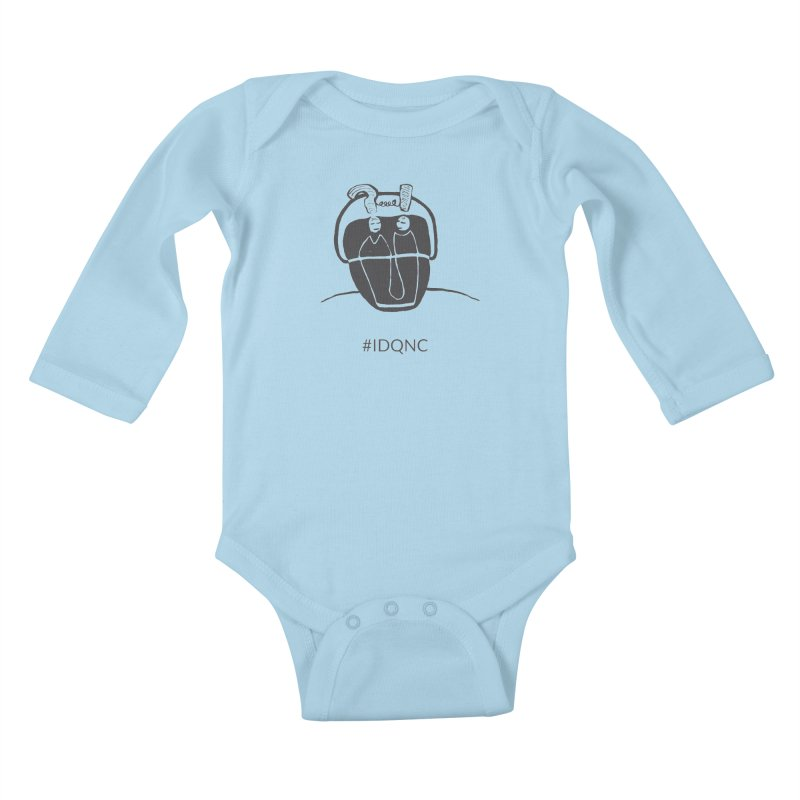 IDQNC-006 (gray) Kids Baby Longsleeve Bodysuit by jeffjacques's Artist Shop