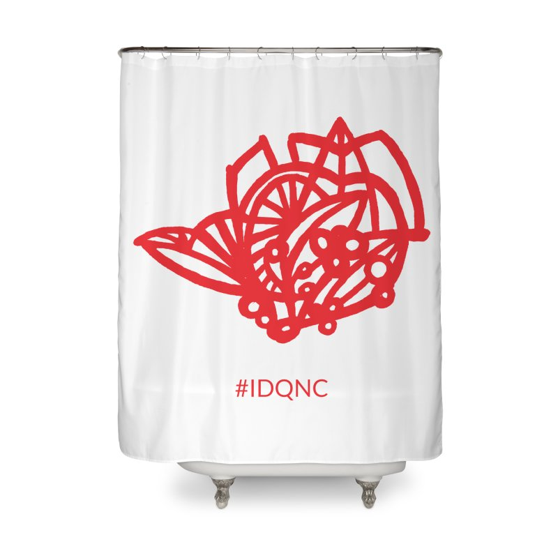IDQNC-016 (red) Home Shower Curtain by jeffjacques's Artist Shop