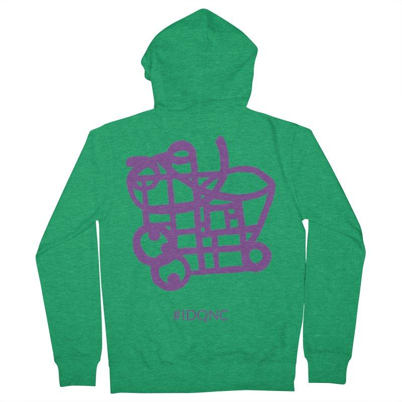 IDQNC-018 (purple) Men's Zip-Up Hoody by jeffjacques's Artist Shop