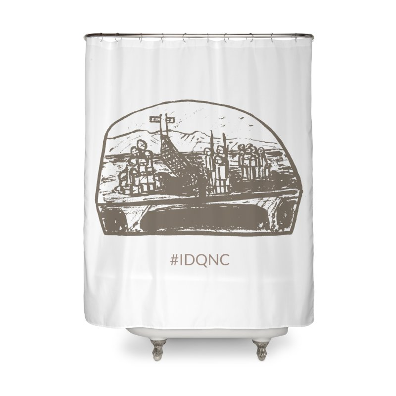 IDQNC-019 (brown) Home Shower Curtain by jeffjacques's Artist Shop