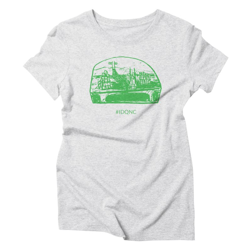 IDQNC-019 (green) Women's T-Shirt by jeffjacques's Artist Shop