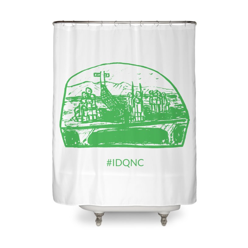 IDQNC-019 (green) Home Shower Curtain by jeffjacques's Artist Shop