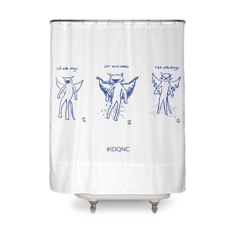 IDQNC-020 (blue) Home Shower Curtain by jeffjacques's Artist Shop