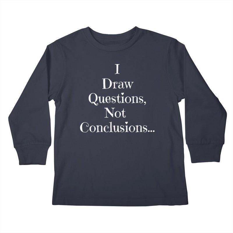 IDQNC-021 (white) Kids Longsleeve T-Shirt by jeffjacques's Artist Shop