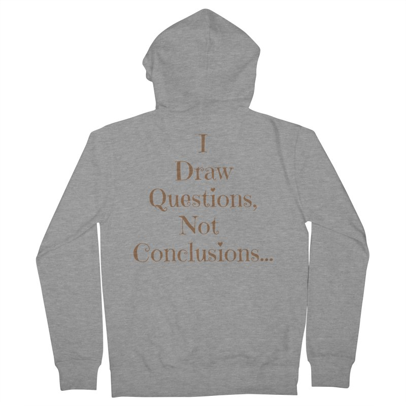 IDQNC-021 (brown) Men's French Terry Zip-Up Hoody by jeffjacques's Artist Shop
