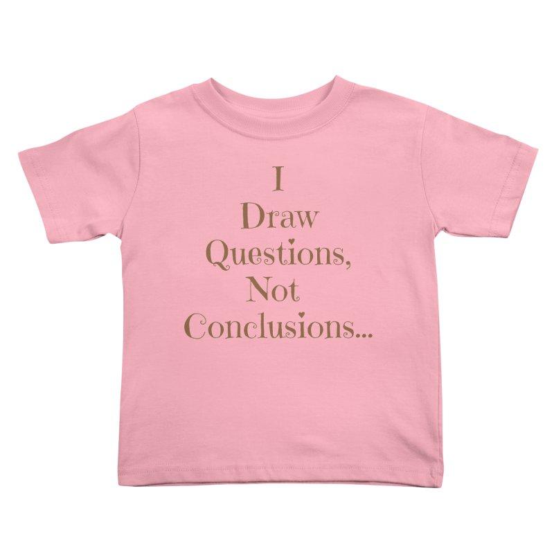 IDQNC-021 (brown) Kids Toddler T-Shirt by jeffjacques's Artist Shop