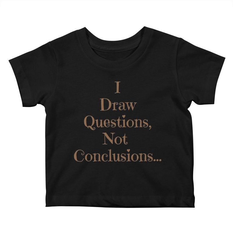 IDQNC-021 (brown) Kids Baby T-Shirt by jeffjacques's Artist Shop